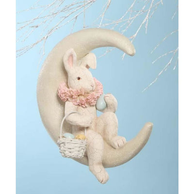 Easter Bunny On White Moon - Easter