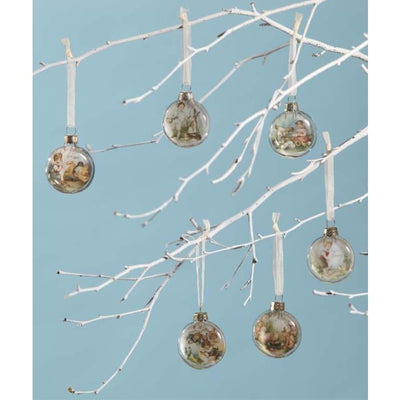 Easter Mini Easter Glass Disc Ornaments Set - Easter