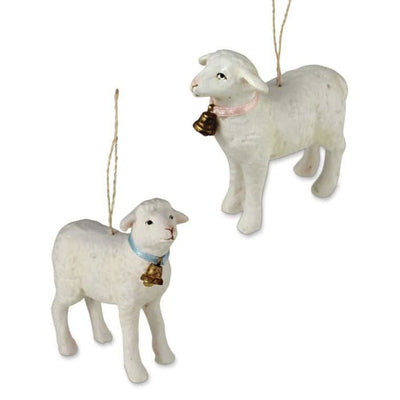Easter Spring Lamb Ornaments Set (2 Pieces) - Easter