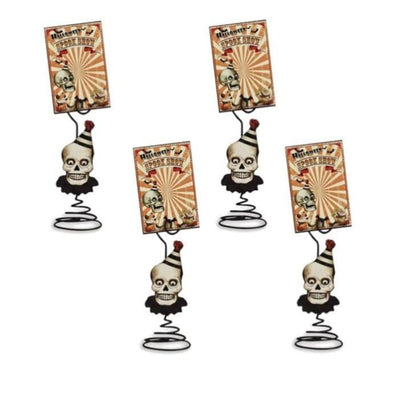 Halloween Big Top Place Card Holder With Card (4 Place Card Sets) - Halloween
