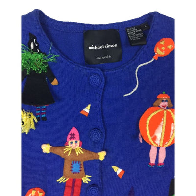 Halloween Costumes Michael Simon Vintage Sweater Size L - Halloween