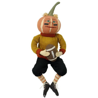 Halloween Defense Dan Jack O Lantern Football Player - Halloween