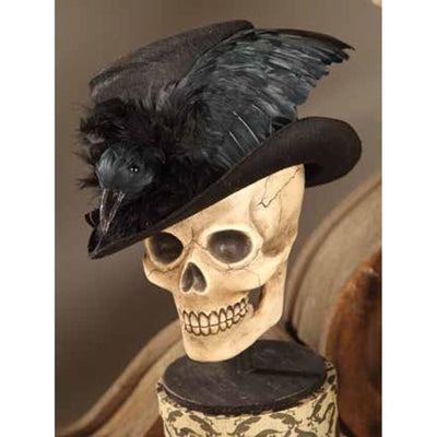 Halloween Haunted Raven Top Hat - Halloween