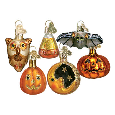 Halloween Miniature Ornaments 6 Pieces - Halloween