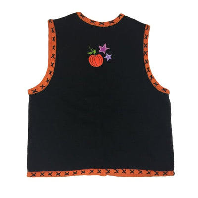 Halloween Night Segue Boo Vintage Sweater Vest Size S - Halloween