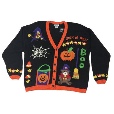 Halloween Trick Or Treat Gallagher Vintage Sweater Size 1X - Halloween