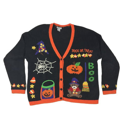 Halloween Trick Or Treat Gallagher Vintage Sweater Size XL - Halloween