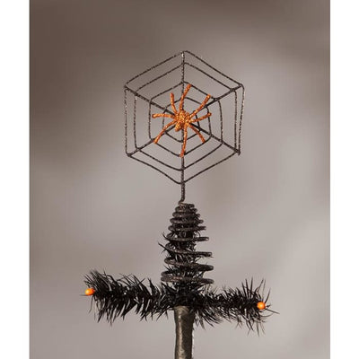 Halloween Wire Spider Web Tree Topper - Halloween