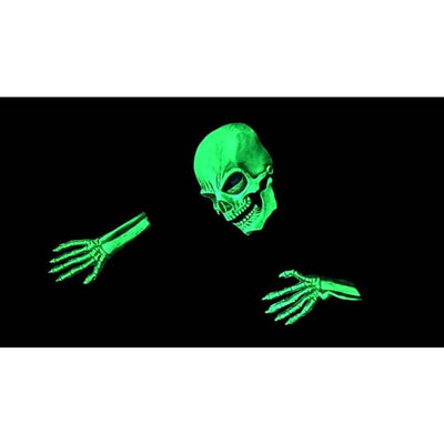 Halloween Zagone Studios UV Reactive Green Glow Skeleton Hands - Halloween