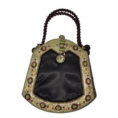 Mary Frances Asian Inspired Dragon Embellished Handbag - Accessory
