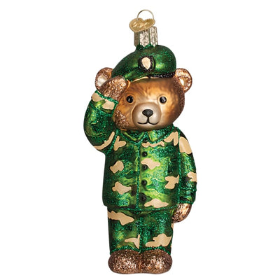 Ornament Army Bear 5 - Christmas
