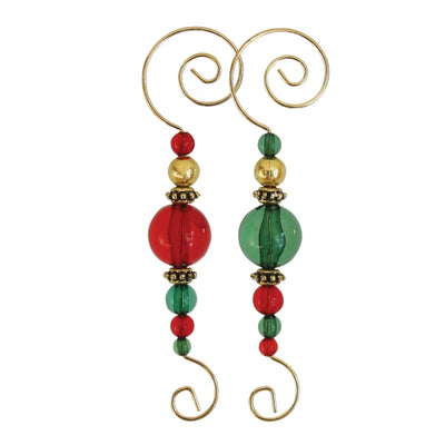 Ornament Beaded Hooks 3 3/4 (6 Pack) - Christmas