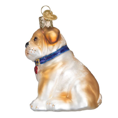 Ornament Bull Pup 3 1/2 - Christmas
