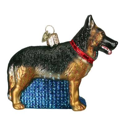 Ornament German Shepherd 4 1/2 - Christmas