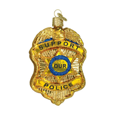 Ornament Police Badge 3 3/4 - Christmas