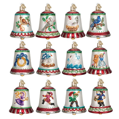 Ornament Twelve Days Of Christmas Bells Collection Box Set (12 Pieces Plus Box) - Christmas
