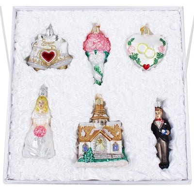 Ornament Wedding Collection Box Set (6 Pieces Plus Box) - Christmas