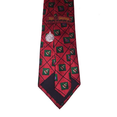 Ornaments And Candy Canes Silk Tie - Christmas