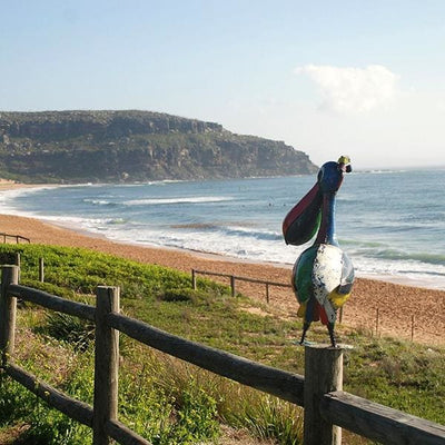 Pete The Pelican Handcrafted Sculpture - Christmas