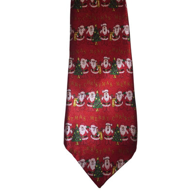 Red Merry Christmas Tie - Christmas