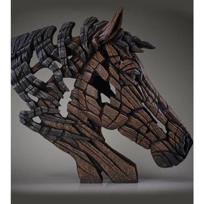 Rustic Horse Bust Edge Sculpture - Christmas