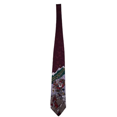 Santa Claus Is Coming To Town Silk Tie - Christmas