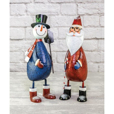 Santa Clause And Frosty The Snowman Standing Set - Christmas