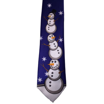 Snowman Stack Tie - Christmas