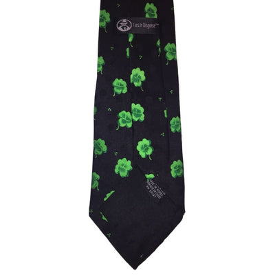 St. Patricks Day Shamrocks Silk Tie - St. Patricks Day