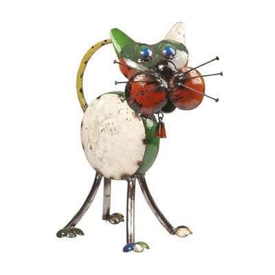 Tabitha The Cat Handcrafted Sculpture - Christmas