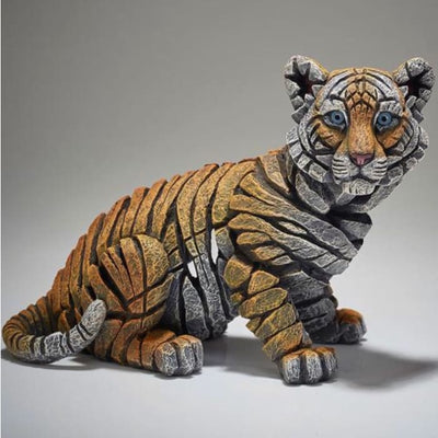 Tiger Cub Figurine Edge Sculpture - Christmas
