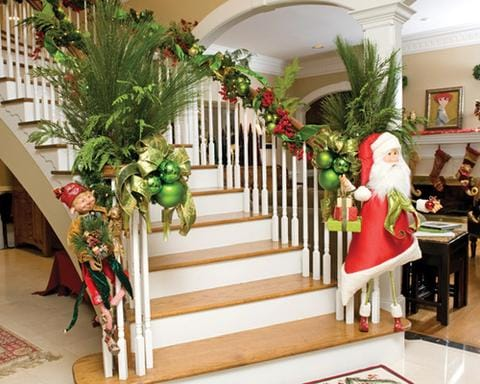 traditional stair decoration