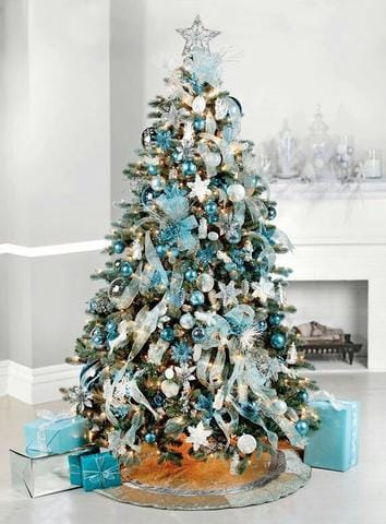 contrasting presents with tree
