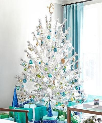 cute small tree with matching presents