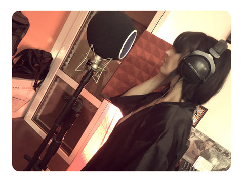Clara laying down more vocal samples for ETHERA Soundscapes 2.0