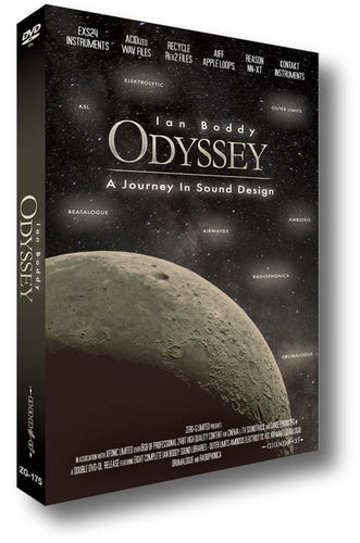 ODYSSEY - A JOURNEY IN SOUND DESIGN by Ian Boddy (WAV ACID Kontakt EXS24 REX Reason NN-XT Apple Loops)