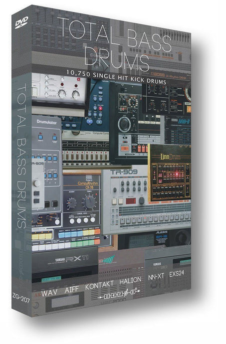 Total Bass Drums (WAV ACID Kontakt EXS24 HALion Reason NN-XT Apple AIFF)