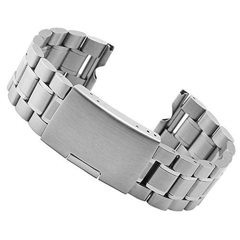 iWonow 22mm Stainless Steel Watchband Smart Watch Band Strap Bracelet for Motorola Moto 360 1 Gen 2014 Smartwatch (1st Steel Silver)