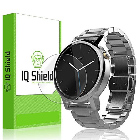 Motorola Moto 360 42mm Screen Protector, IQ Shield LiQuidSkin (6-Pack) Full Coverage Screen Protector for Motorola Moto 360 42mm HD Clear Anti-Bubble Film - with