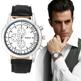 Design Dial Leather Band Quartz Wrist Watches Mens Business Watch Gift relogio Clock