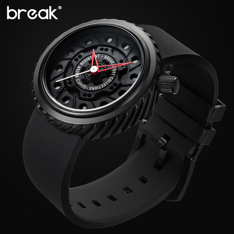 Men Racing Motorcyle Sport Watches Rubber Strap Casual Fashion Passion Waterproof Geek