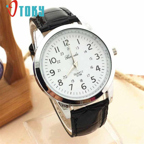 Unisex Elegant Analog Luxury Sports Leather Strap Quartz Men's Wrist Watches