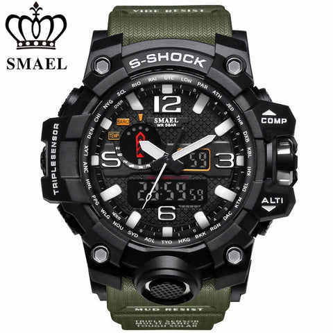 Sport Watch Men's Fashion Analog Quartz LED Digital Electronic Watch Waterproof Military Watches