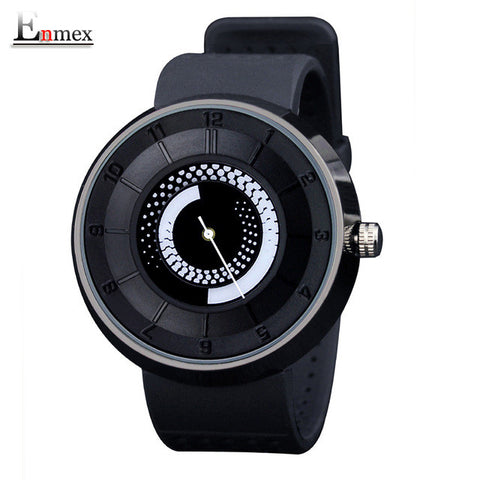 Black fire design wristwatch breathe freely strap sports casual fashion quartz watches