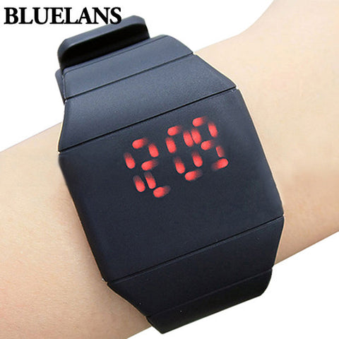 Digital Red Led Silicone Sports Wrist Watch Silicone