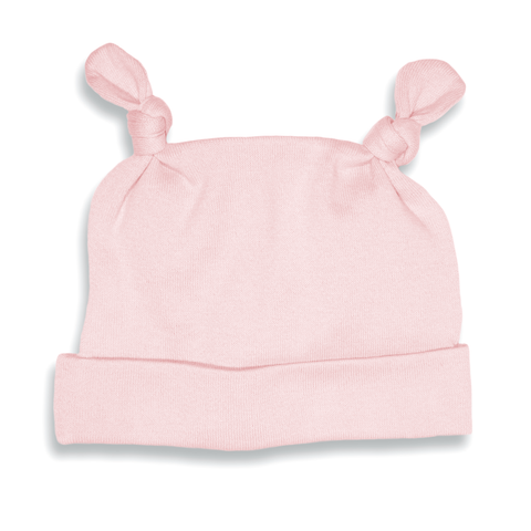 Pink Two Top-Knot Hat