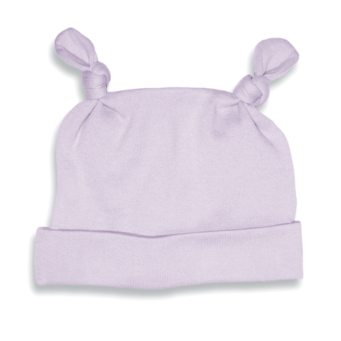 Purple Two Top-Knot Hat