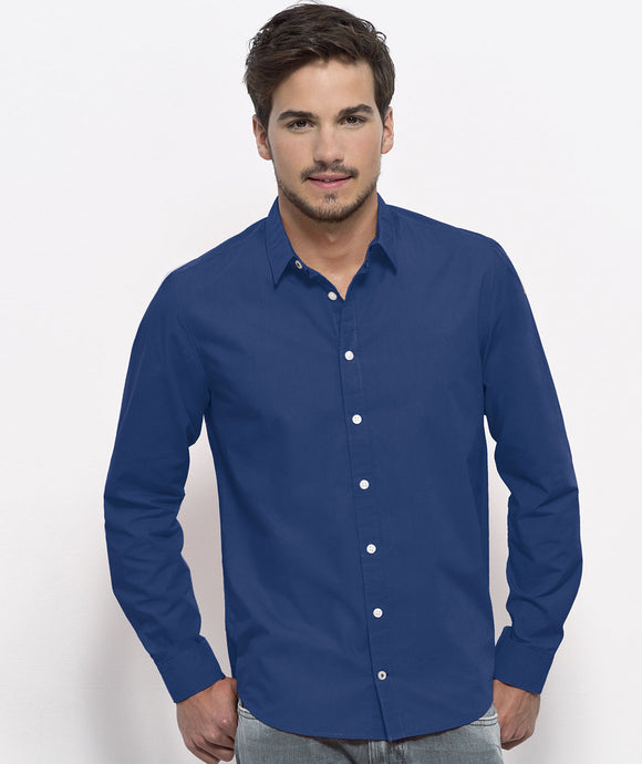 Camicia in cotone biologico BLU VIVACE - Man shirt DEEP ROYAL BLUE