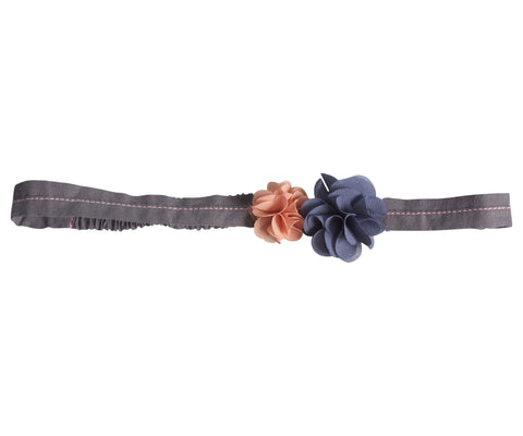 Hair Band, Fluff Flowers, Blue