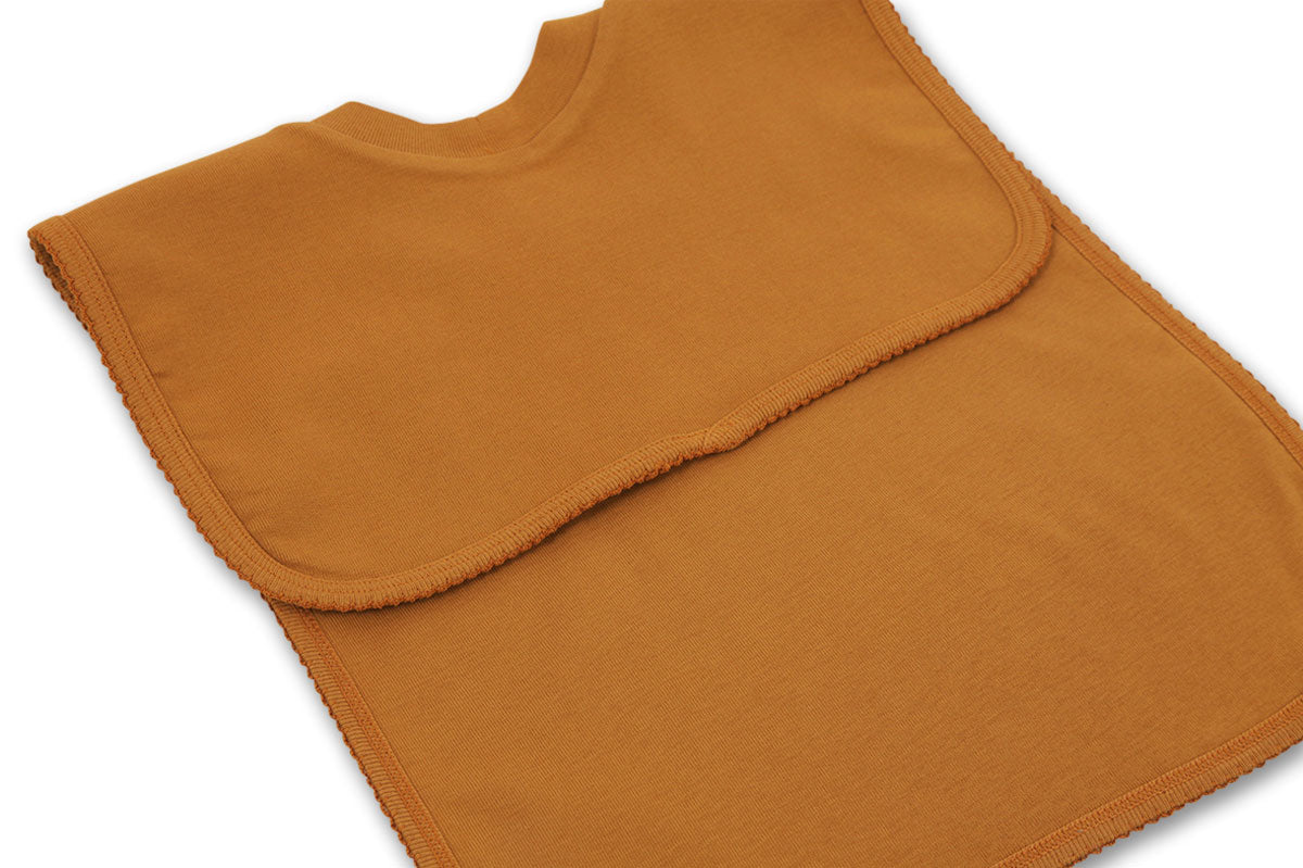 Sweat Bib with Placed Pattern - Baloo / Mustard